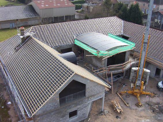 Pole multiservices à Chaussin (39) - Ecran sous-toiture et lattage