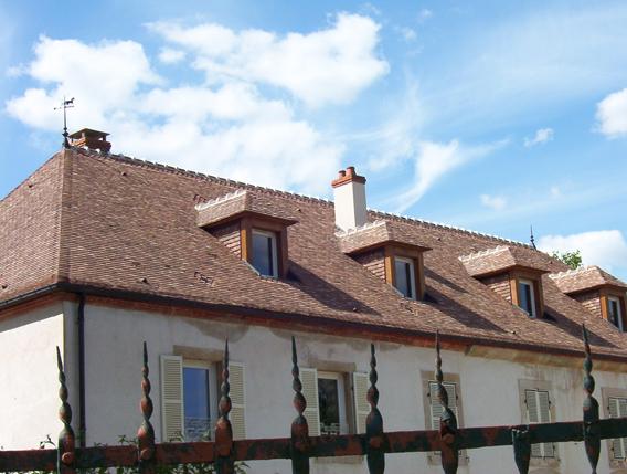 Maison ancienne de Tillenay (21) - Rénovation de la couverture
