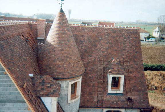 Pavillon à Champdotre (21) - Couverture tuiles plates en terre cuite Pommard