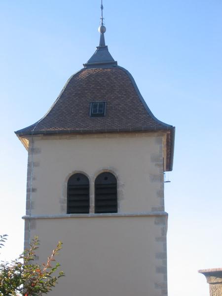 Clocher à Selli&eagrave;re (39) - Restauration du clocher comtois en tuiles plates écaillées