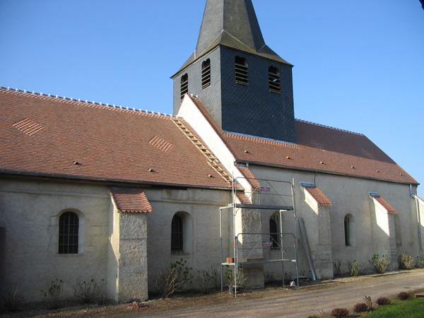 Eglise Bonnencontre (21) - Réfection de la toiture en tuiles plates