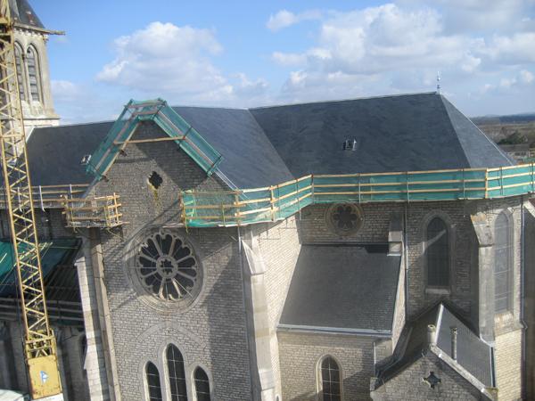 Eglise Les Maillys (21) - Rénovation des toitures en ardoises d'Angers