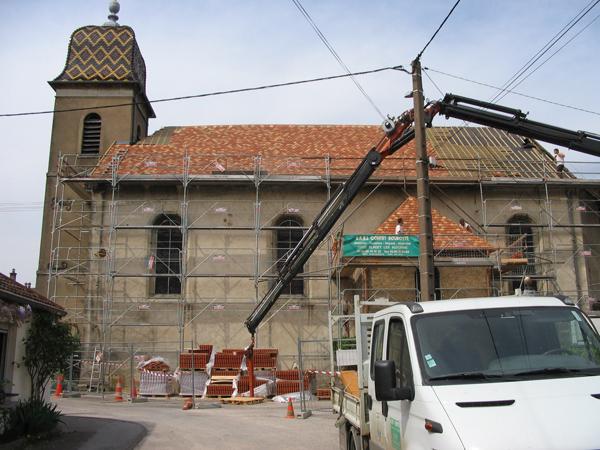 Eglise Roche-les-Beaupre (25) - Réfection de la toiture