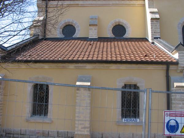 Eglise de Semezanges (21) - Restauration des enduits des façades à la chaux