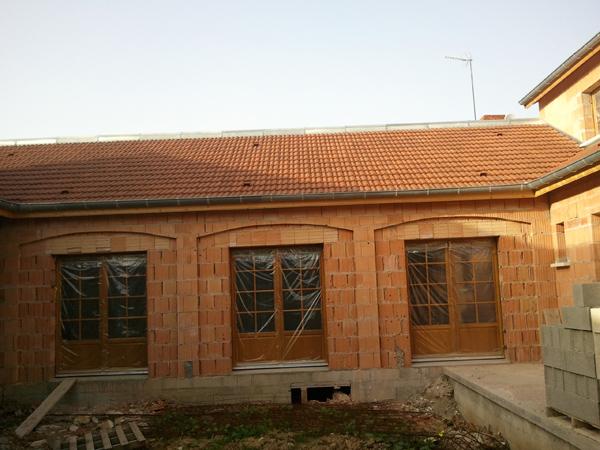 Pavillon à Lamarche-sur-saone (21) - Maçonnerie en briques