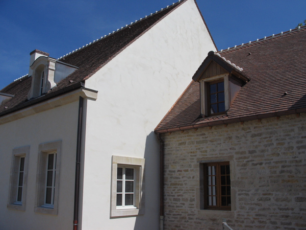 Pavillon à Lux (21) - Enduits des façades