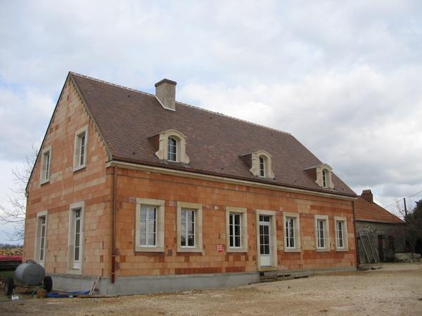 Pavillon à Lux (21) - Maçonnerie en briques